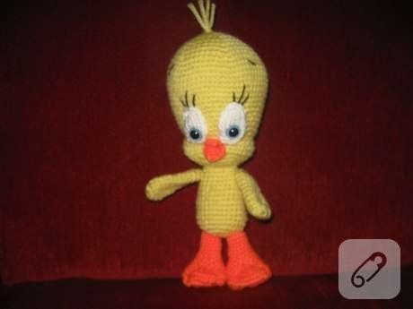 Amigurumi Tweety Yapilisi : Amigurumi Tweety oyuncak 10marifet.org