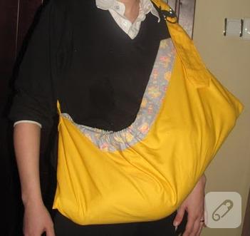 bebek taşıma çantası dikiş