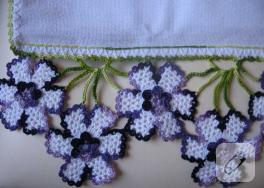 Çok zarif ve renkli dantel havlu kenarı örnekleri