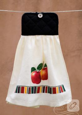 Mutfak havlusuna küçük bir dokunuş (havlu kenarı)