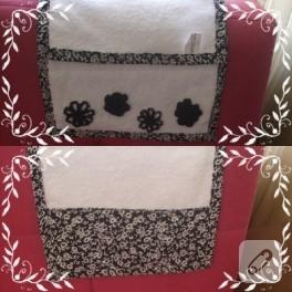 Çiçekli punch havlu kenarı