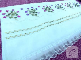 Boncuk işlemeli havlu kenarı modeli, kendi eserim