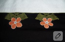 İğne oyası havlu kenarı için iki örnek