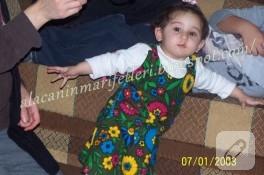 Yeğenime Elbise Diktim