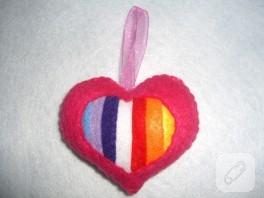 Keçe Renkli Kalp