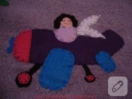 Keçe aplikeli desenli havlu kenarı modeli