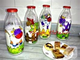 El Yapımı Süt Şişeleri