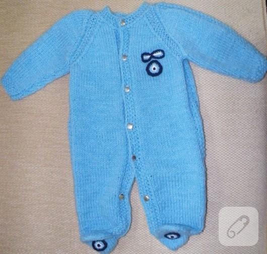 örgü bebek tulumu