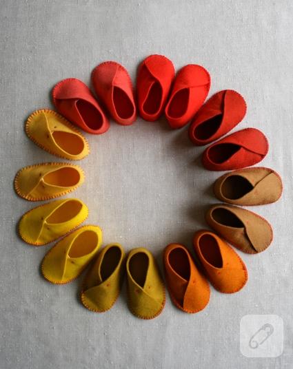 Keçe Bebek Ayakkabıları