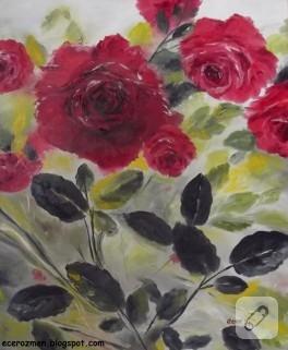 Yağlı Boya Çalışmam -Güller-