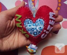 Keçe Dolgulu Kalp Magnet (Gizem-Okan)