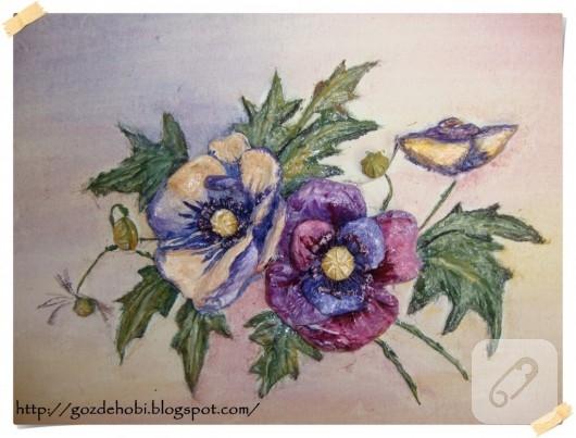 Kitre Pamuktan Çiçek Yapımı