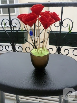 keçeden çiçek nasıl yapılır