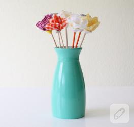 Çok Basit Kumaş Çiçek Yapımı