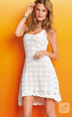 yazlık örgü elbise