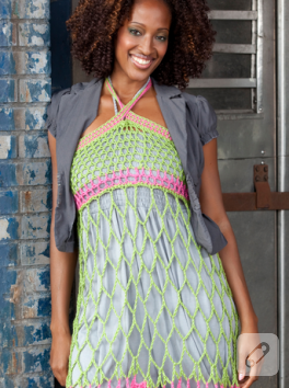 Yazlık Rengarenk Örgü Elbise
