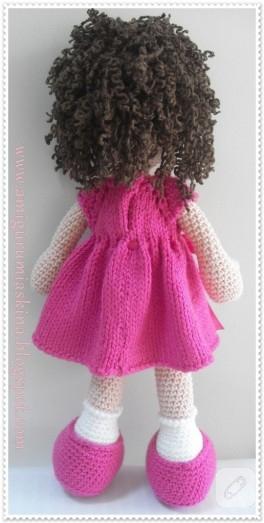Amigurumi Oyuncak Kıvırcık Saçlı Bebek