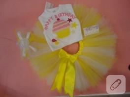 Bebek takımı-sarı ve beyazın birlikteliği…