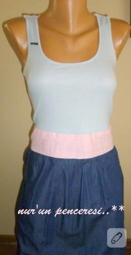 Tişörtten Elbise Yapımı Çok Kolay