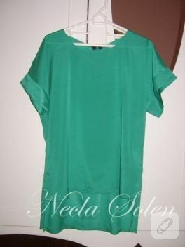 Fermuarlı Yeşil Bluz