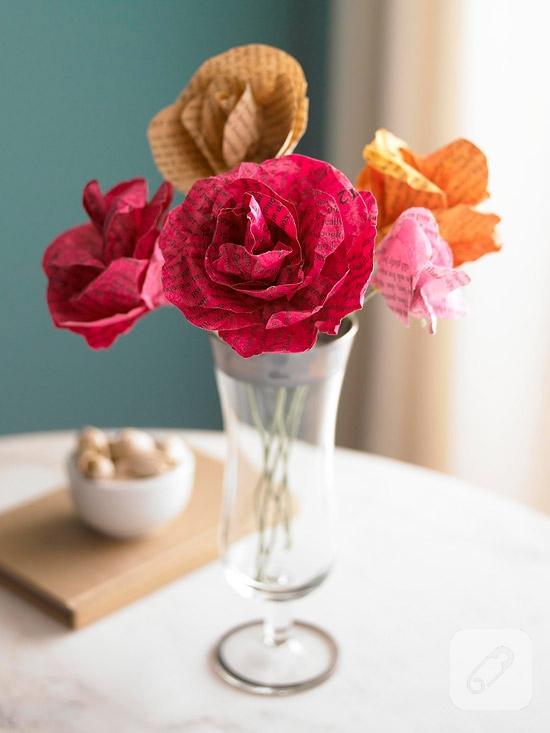 kağıt çiçek