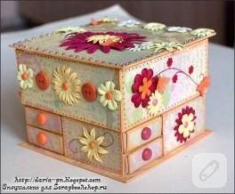 Çok güzel bir mücevher kutusu yapımı