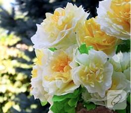 Yapay çiçeklerin basit yapımı
