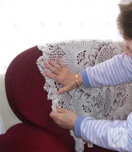 Anne elinden dantel kare masa örtüsü…