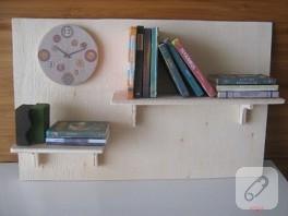 mini kitaplık kapı süsü