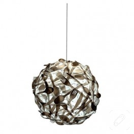 plastik çatal kaşıktan lamba