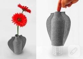 pet şişeyi vazoya dönüştürmek