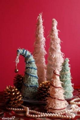 Dekoratif Noel ağacı + ustalık sınıfı