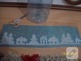 plastik kanvastan abajur sarkıt yaptım