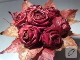 Sonbahar Yarışması – Dökülen Çınar Yapraklarından Gül Yapalım – 2