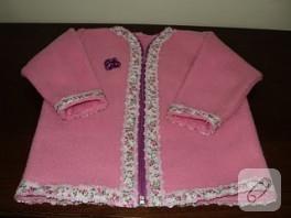 Polar kumaştan Ceket yapımı