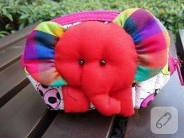 Sevimli fillerimiz bozuk para çantası olarak kullanılıyor