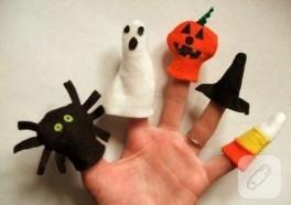 Cadılar bayramı parmak kuklaları
