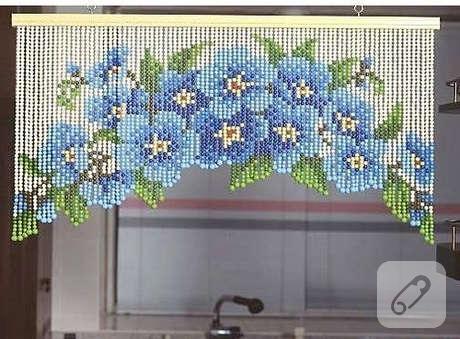 dantelden kapı perdesi nasıl yapılır
