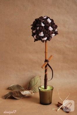 Kahve Rengi Gül Ağacı