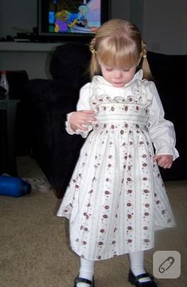 Gömlekten kız çocuk elbisesi