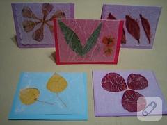 kuru çiçeklerden kart