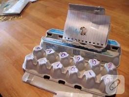 Yumurta Kolisinden Daktilo Yapımı