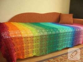 Rengarenk Yatak Örtüsü