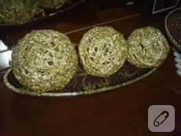 altın toplarım ve şıkır şıkır tabağı.