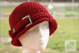 kemer tokalı örgü şapka