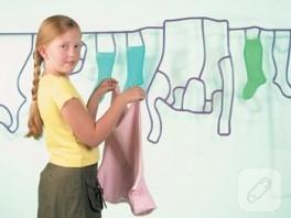 çamaşırları kurutmak hiç bu kadar eğlenceli algılanmamıştı