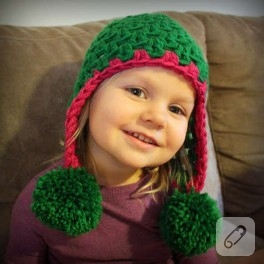 Çocuklara çok cici şapkalar…