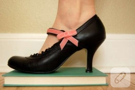 zarif ayakkabı süsleme