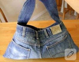 kot pantolondan nasıl çanta yapılır?
