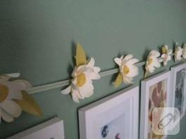 Çiçekli duvar dekoru…